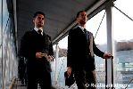 Chùm ảnh: Dàn sao Real Madrid bảnh bao đến Thụy Sỹ