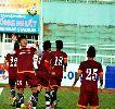 Chùm ảnh: HLV Miura liên tục la hét các cầu thủ Olympic Việt Nam