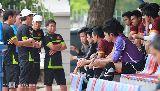 Chùm ảnh: Olympic Việt Nam ráo riết 'chỉnh thước ngắm' để đấu Macau