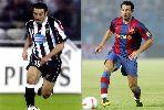 Những ngôi sao từng thi đấu cho cả Barca và Juventus