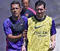 Messi ướt đẫm mồ hôi trong buổi tập cuối trước khi tới Berlin
