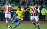 Chùm ảnh: Chùm ảnh: Robinho ghi bàn sớm, Brazil vẫn dừng bước ở tứ kết
