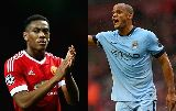 Chùm ảnh: Những cuộc đối đầu đáng chú ý trong trận derby Manchester