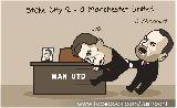 Biếm họa: Van Gaal bám chặt không buông ghế M.U