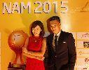 Tú Linh duyên dáng bên Công Vinh đêm Gala trao giải QBV 2015