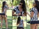 Chùm ảnh: Nữ trọng tài sexy bị tố thiên vị sau khi đăng ảnh mặc áo AC Milan