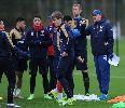 Chùm ảnh: Ramsey cười rạng rỡ trước trận chiến với Southampton