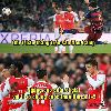"""Ảnh chế: Arsenal quyết giữ truyền thống """"lót đường""""; LORD Bendtner, KING Welbeck bất lực"""