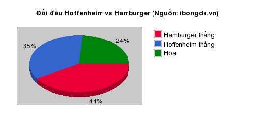 Thống kê đối đầu Hoffenheim vs Hamburger